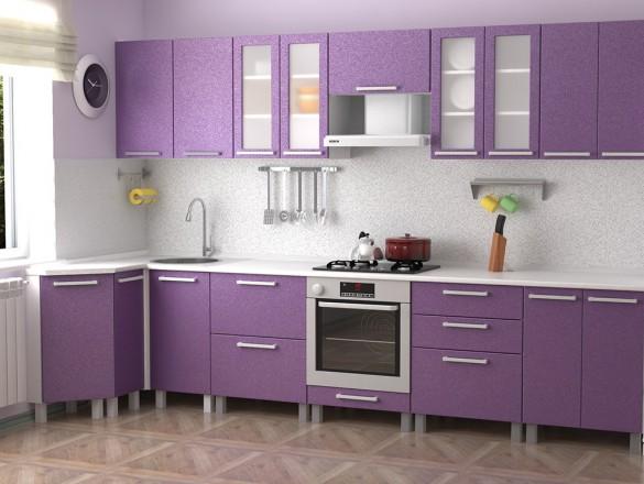 Кухня МДФ Фиолетовый металлик