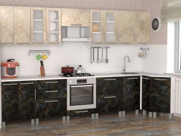 Кухня МДФ Летучая мышь комбинированная
