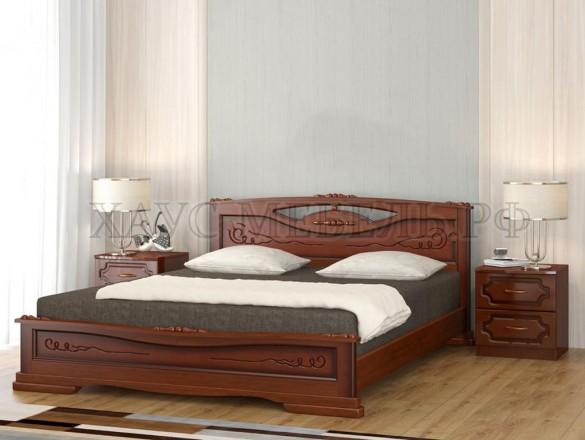 Кровать Елена 3 Орех