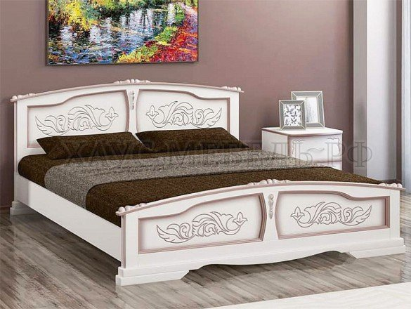 Кровать Елена Дуб молочный