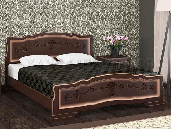 Кровать Карина 6 Орех тёмный