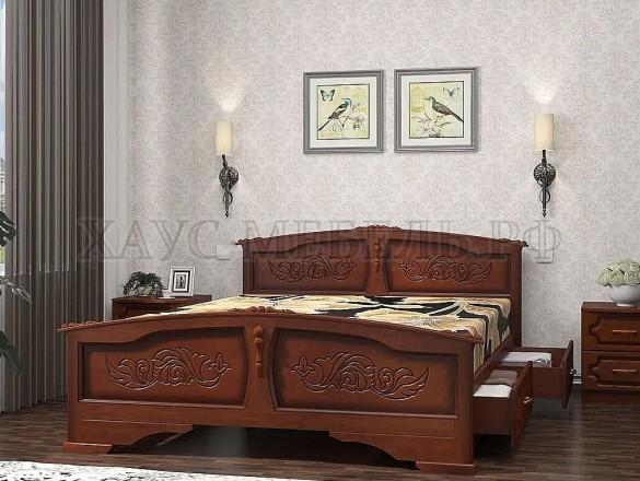 Кровать Елена Орех с ящиками