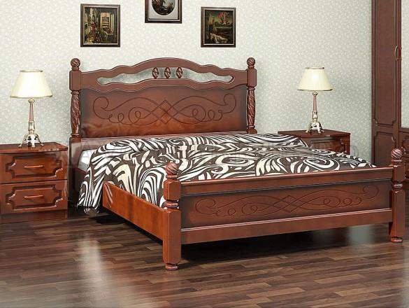 Кровать Карина 15 Орех