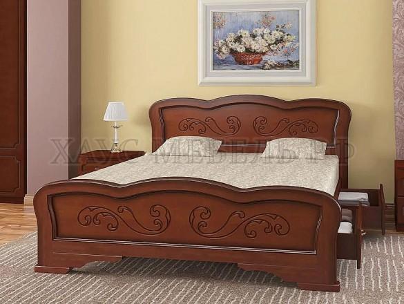 Кровать Карина 8 Орех с ящиками