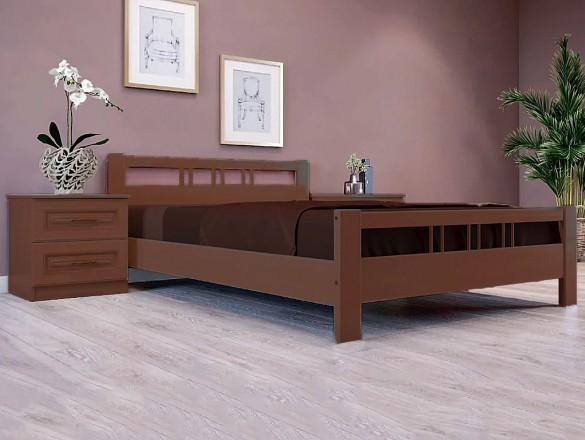 Кровать Вероника 3 Орех