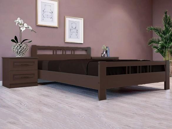 Кровать Вероника 3 Орех тёмный