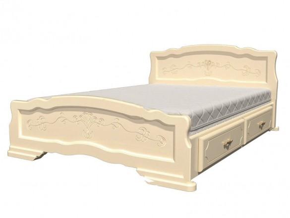 Кровать Карина 6 Слоновая кость с ящиками