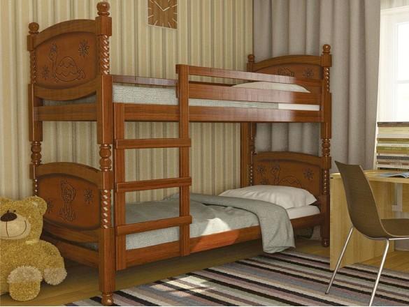 Кровать двухъярусная Валерия орех