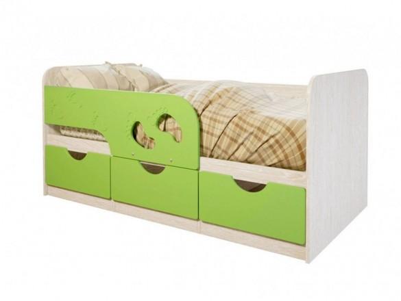 Кровать детская Минима лего 1860 мм. лайм