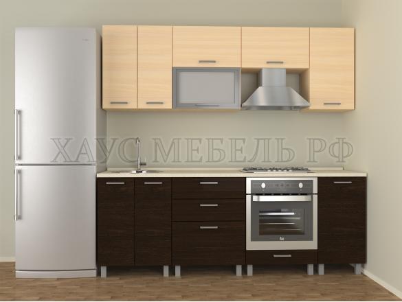 Кухня ЛДСП Венге/дуб молочный 2200 мм.
