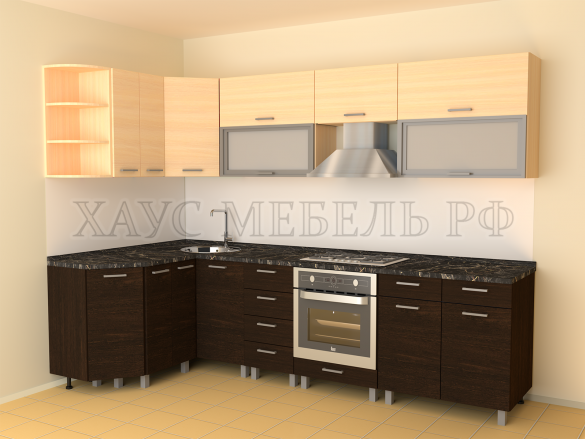 Кухня ЛДСП Венге/дуб молочный 4200 мм.
