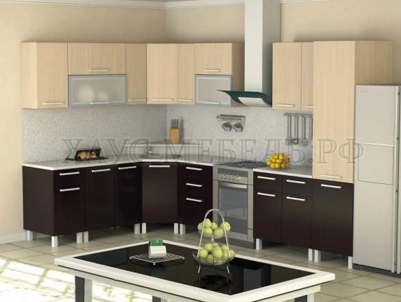 Кухня ЛДСП Венге/Дуб молочный 5100 мм.