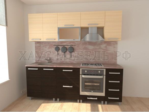 Кухня ЛДСП Венге/дуб молочный 2400 мм. №2