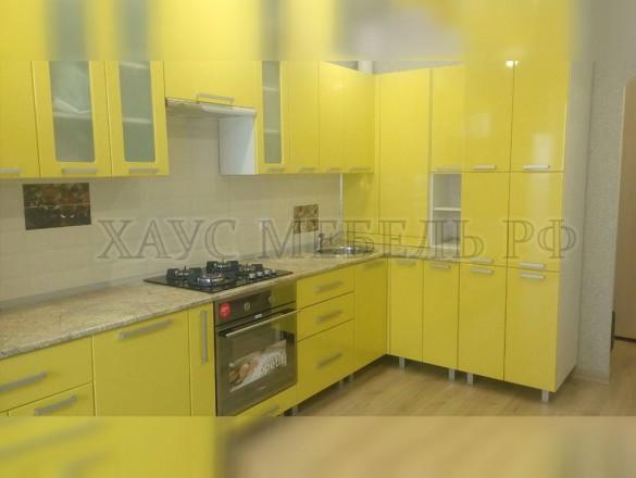 Кухня МДФ Желтый глянец