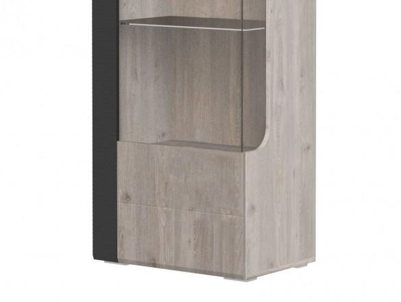 Шкаф с витриной 1 дверь Бриз