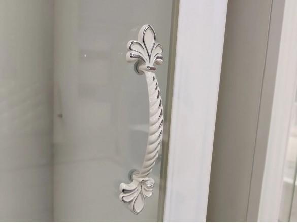 Шкаф-витрина 490 мм. ( 1 дверь + 3 стекла ) Грация Лак Белый
