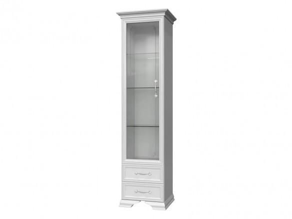 Шкаф-витрина ( 1 дверь + 1 стекло ) Грация Лак Белый