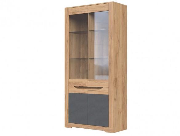Шкаф с витриной ШР-2 Римини Крафт