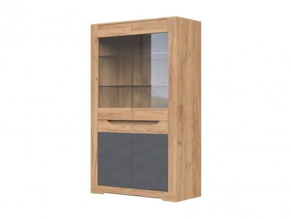 Шкаф с витриной ШР-2 1600 Римини Крафт