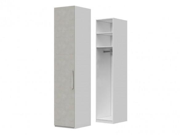 Шкаф ШР-1 Вива Белый глянец/Платина